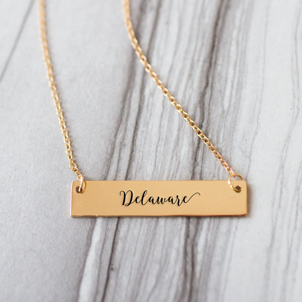 Delaware Gold / Silver Bar Necklace - pipercleo.com