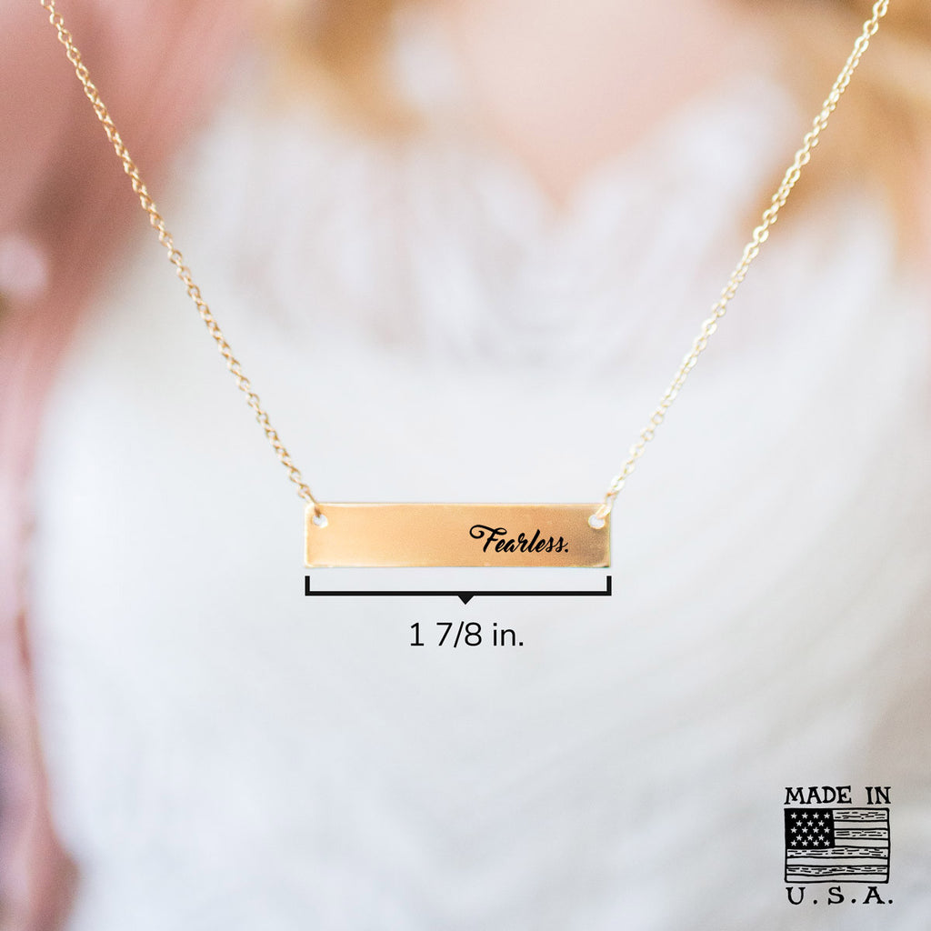 Fearless Gold / Silver Bar Necklace