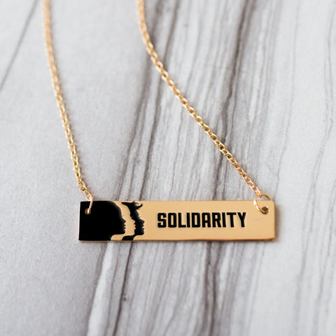 Solidarity Gold / Silver Bar Necklace - pipercleo.com