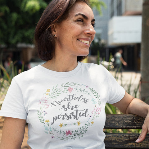 Nevertheless, She Persisted Ladies' Boyfriend T-Shirt - pipercleo.com