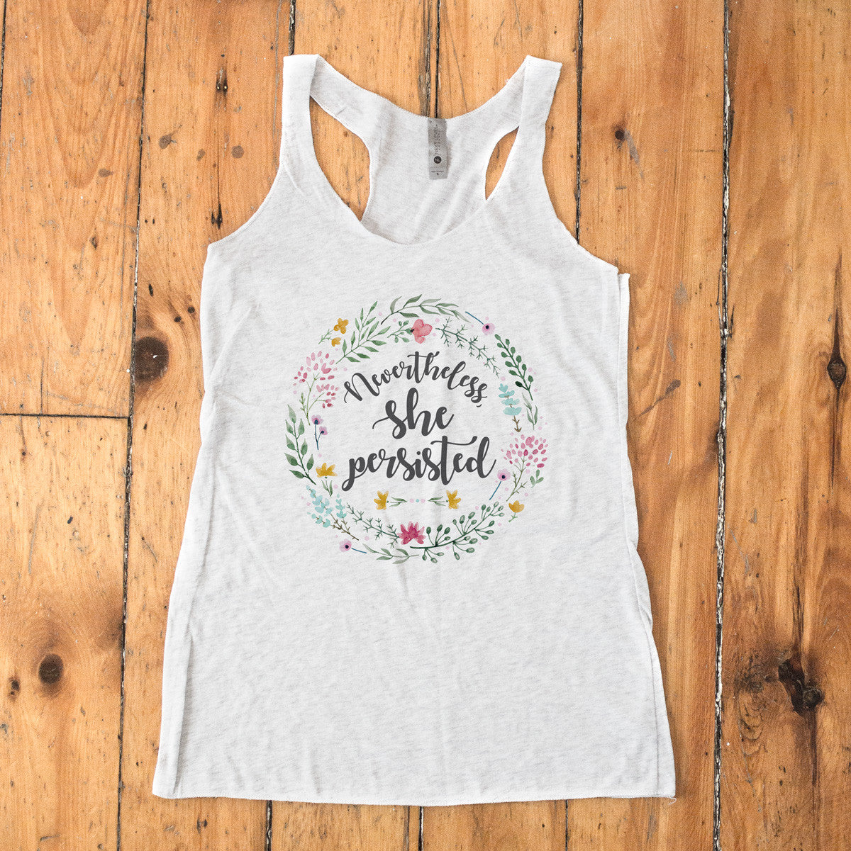 Nevertheless She Persisted Ladies' Tri-Blend Racerback Tank