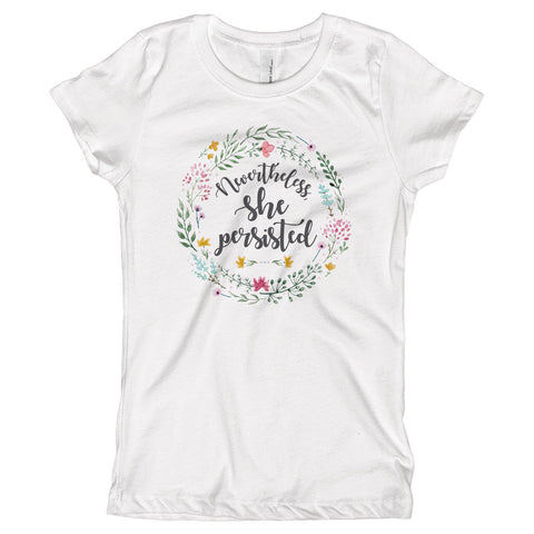 Nevertheless, She Persisted Youth Size T-Shirt - pipercleo.com