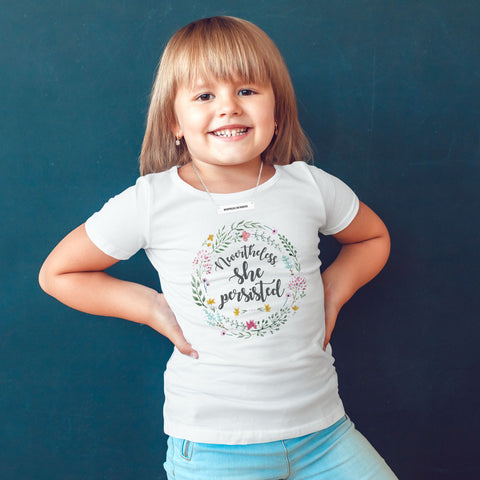 Nevertheless She Persisted Toddler Softstyle T-Shirt - pipercleo.com