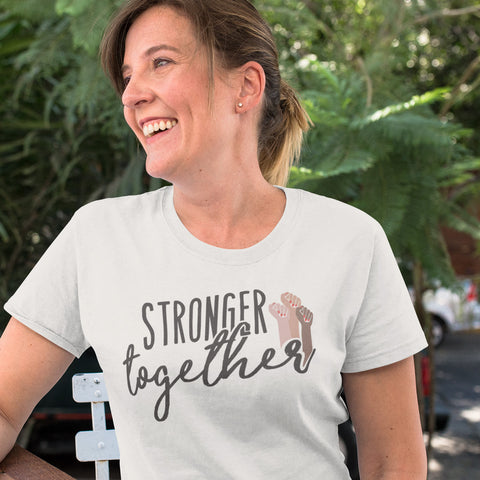 Stronger Together Ladies' Boyfriend T-Shirt