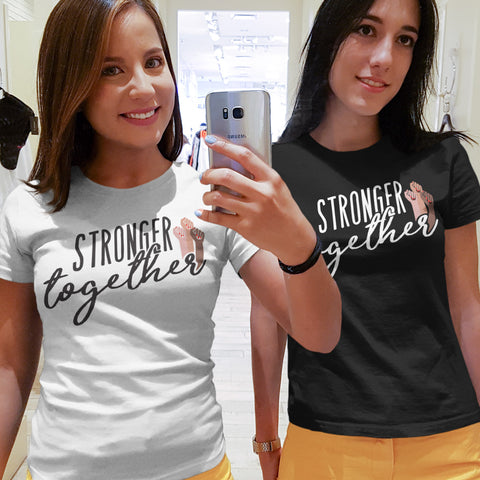 Stronger Together Ladies' Boyfriend T-Shirt - pipercleo.com