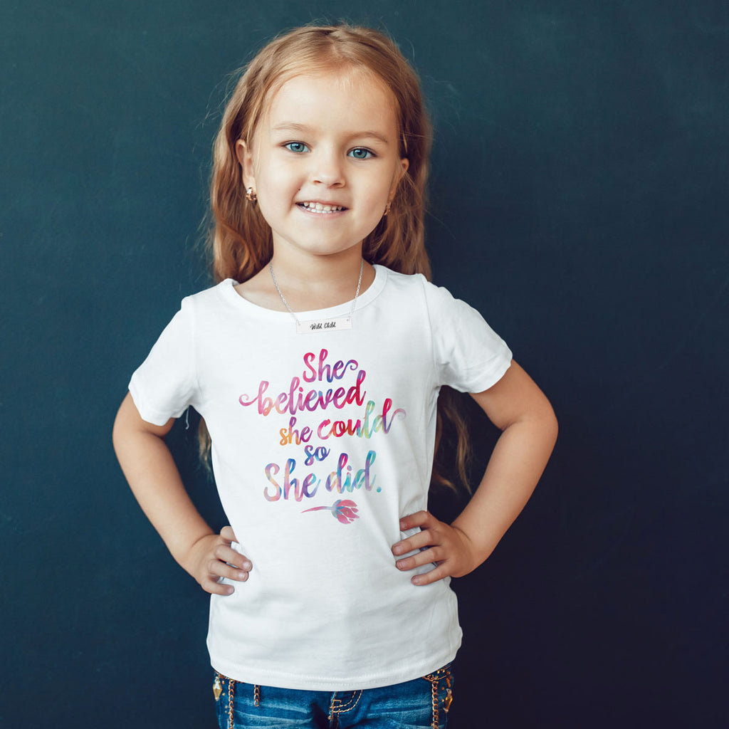She Believed She Could So She Did Toddler Softstyle T-Shirt