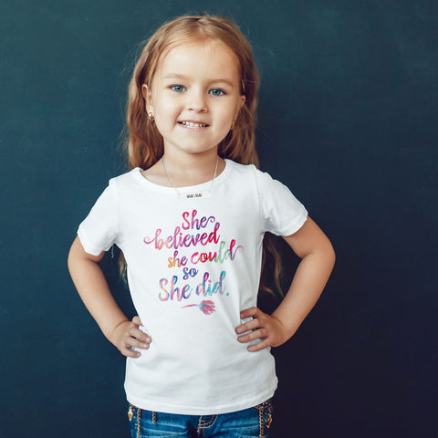 She Believed She Could So She Did Toddler Softstyle T-Shirt - pipercleo.com
