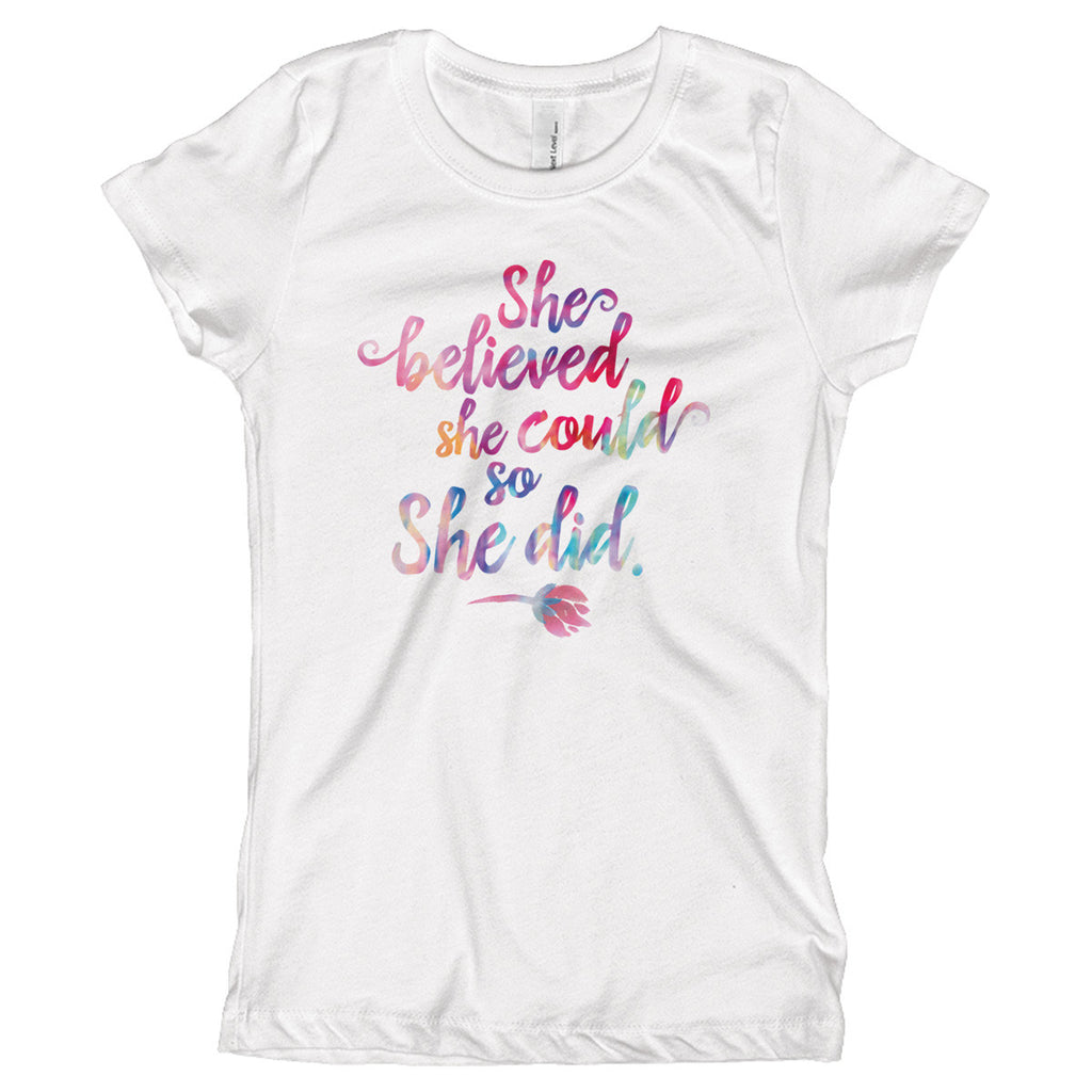 She Believed She Could So She Did Youth Size T-Shirt