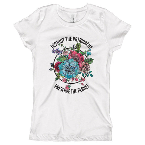 Destroy The Patriarchy Preserve the Planet Youth Size T-Shirt - pipercleo.com
