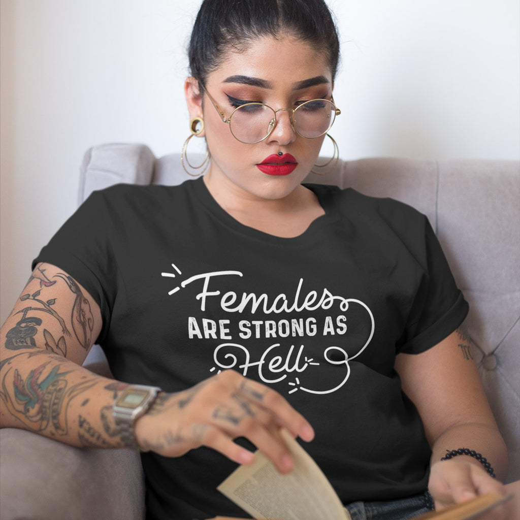 Females are Strong as Hell Ladies' Boyfriend T-Shirt - pipercleo.com