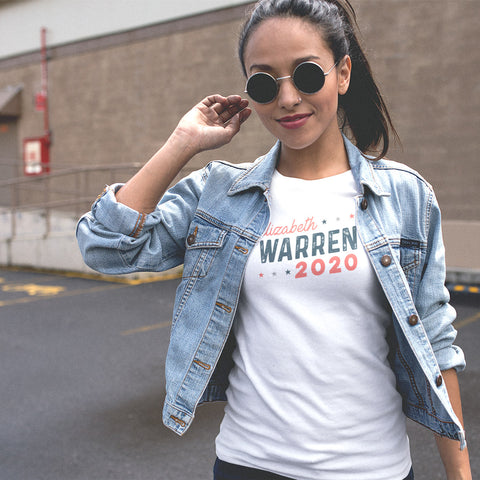 Elizabeth Warren 2020 Ladies' Boyfriend T-Shirt - pipercleo.com