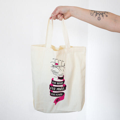 Our Bodies Our Minds Our Power Cotton Tote Bag - pipercleo.com