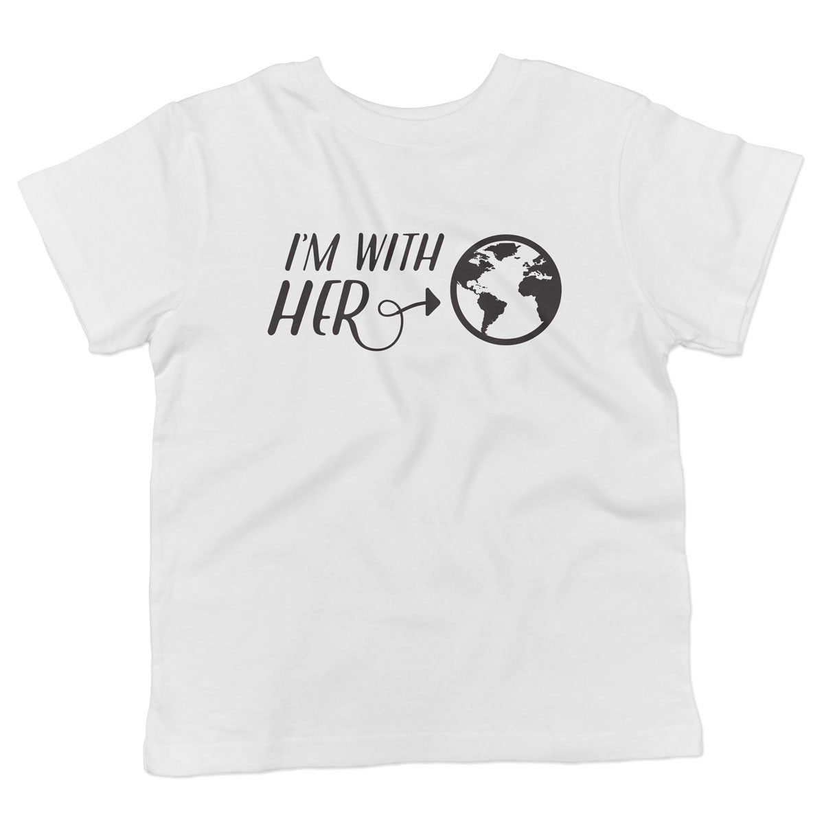 I'm with HER - Earth Supporter - Toddler Softstyle T-Shirt - pipercleo.com