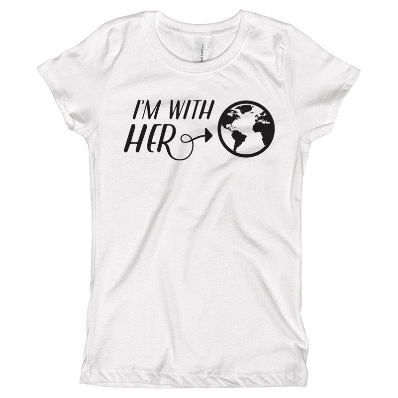 I'm with HER Youth Size T-Shirt - pipercleo.com