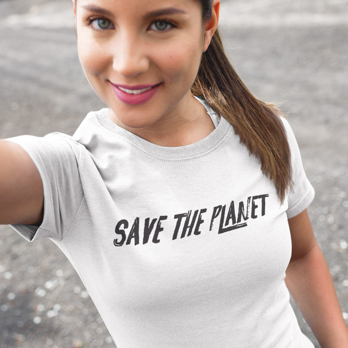 Save the Planet Ladies' Boyfriend T-Shirt