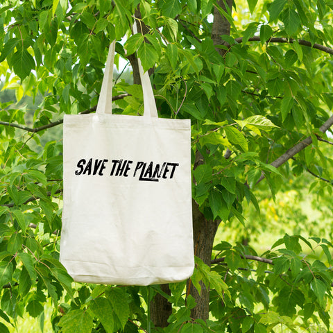 Save The Planet Cotton Tote Bag