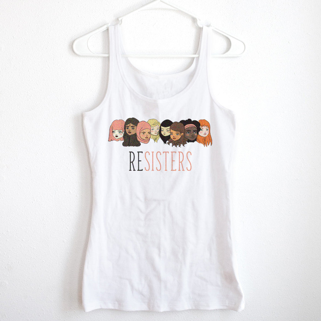 ReSISTERS Ladies' White Tank