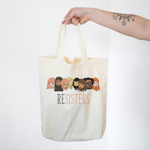 ReSISTERS Cotton Tote Bag - pipercleo.com