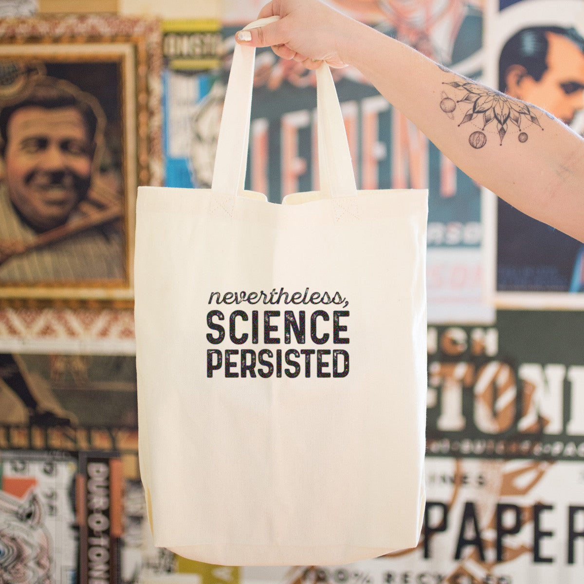 Nevertheless, Science Persisted Cotton Tote Bag - pipercleo.com