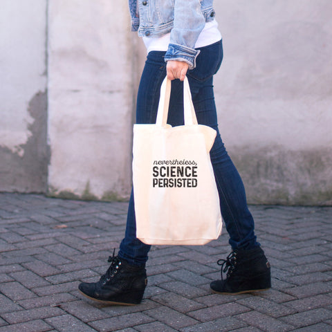 Nevertheless, Science Persisted Cotton Tote Bag