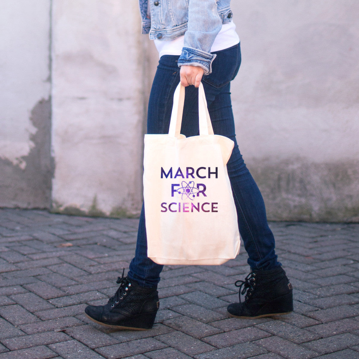March for Science Cotton Tote Bag - pipercleo.com