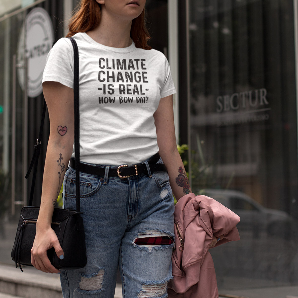 Climate Change is Real - How Bow Dat? Ladies' Boyfriend T-Shirt - pipercleo.com