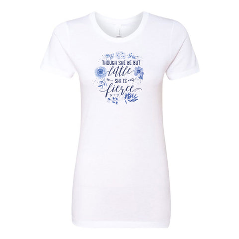 Though She Be But Little She Is Fierce Ladies' Boyfriend T-Shirt