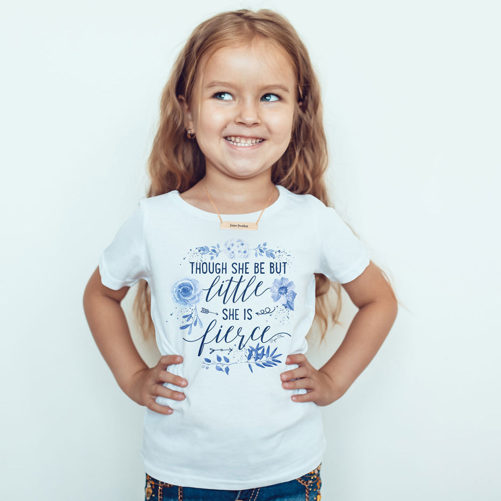 Though She Be But Little She Is Fierce - Blue - Toddler Softstyle T-Shirt