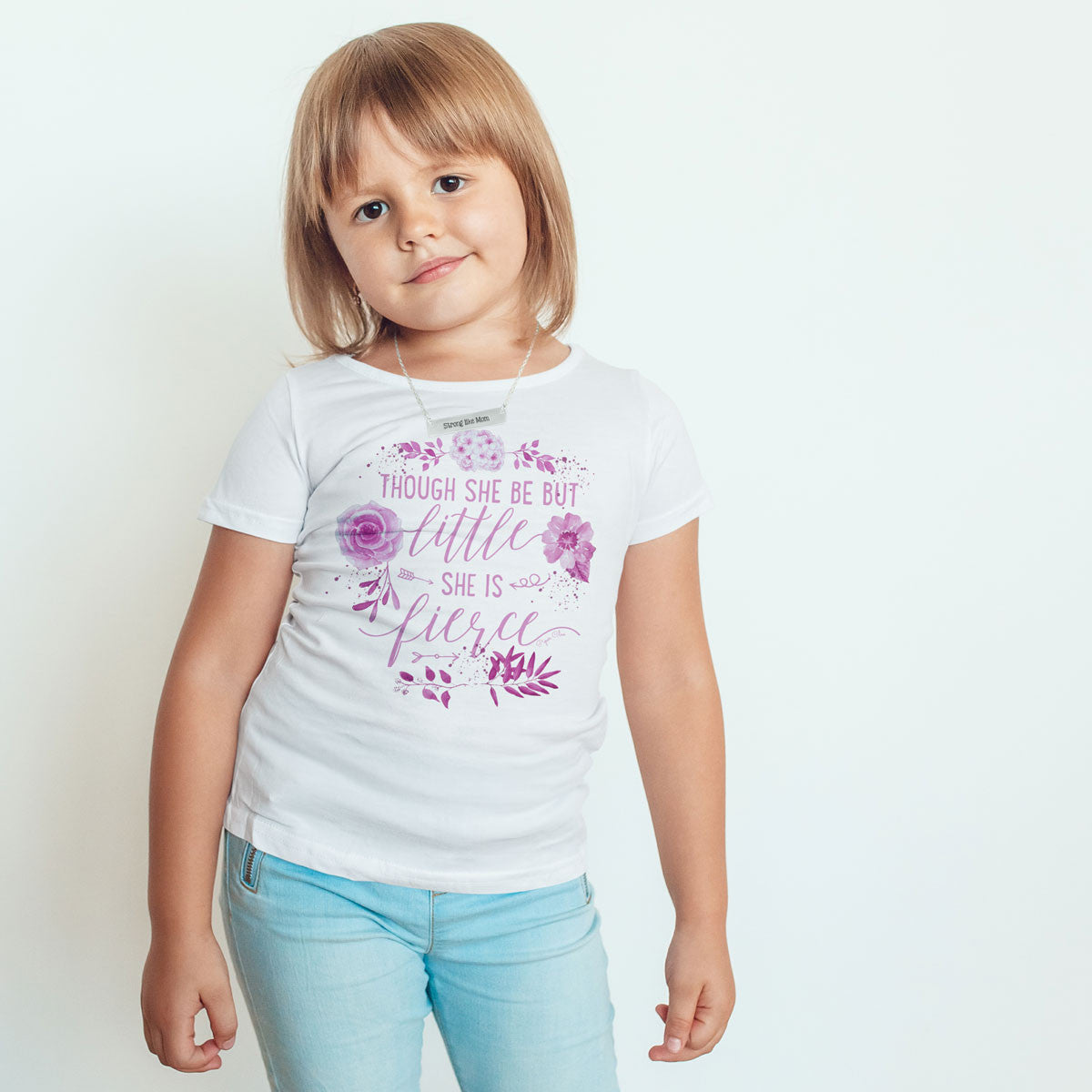 Though She Be But Little She Is Fierce - Pink - Toddler Softstyle T-Shirt