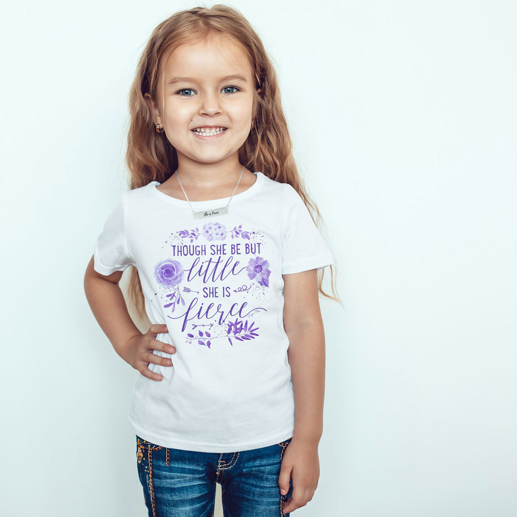 Though She Be But Little She Is Fierce - Purple - Toddler Softstyle T-Shirt