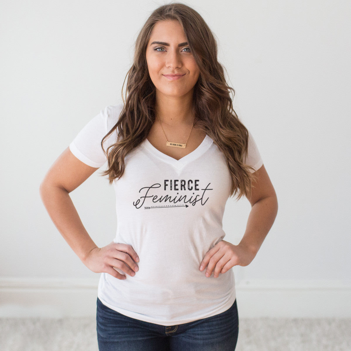Fierce Feminist V-Neck T-shirt