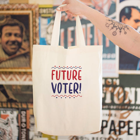 Future Voter Cotton Tote Bag