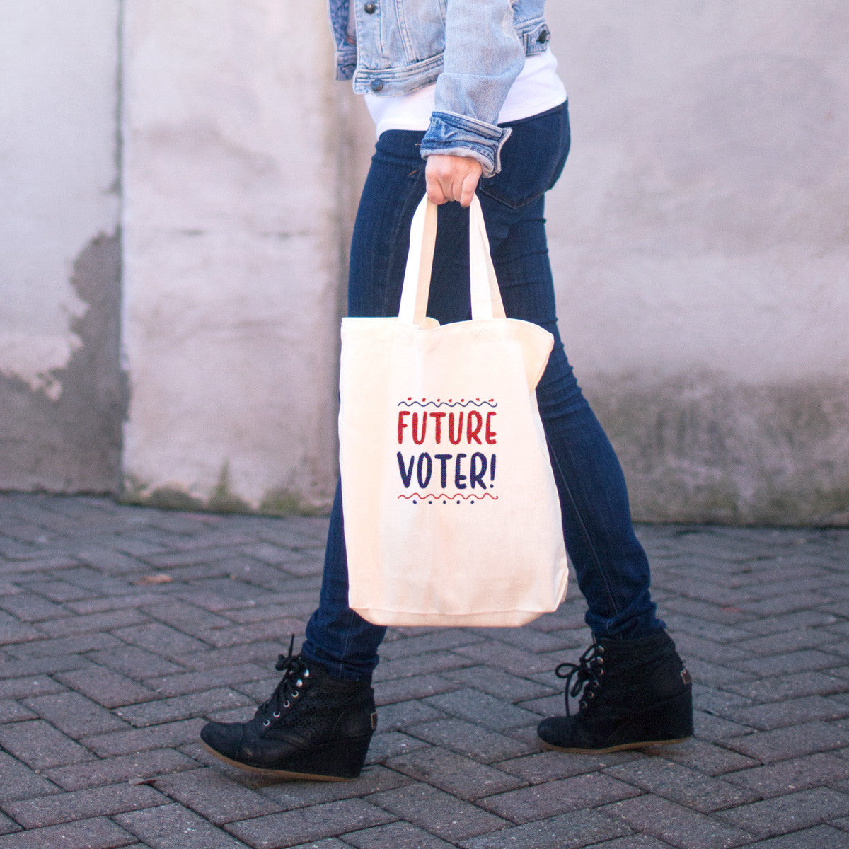Future Voter Cotton Tote Bag - pipercleo.com