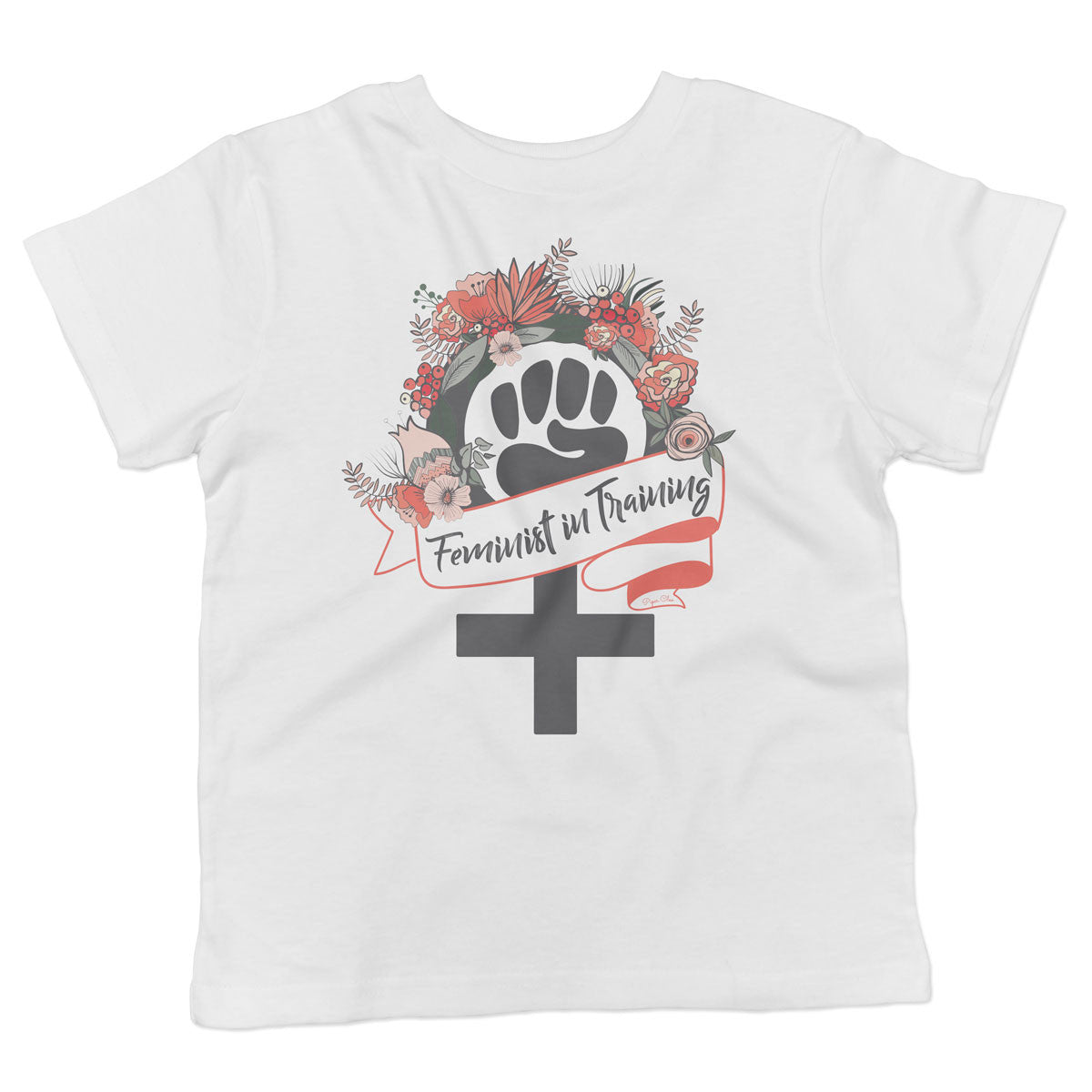 Feminist in Training - Orange - Toddler Softstyle T-Shirt - pipercleo.com