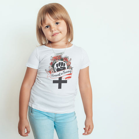 Feminist in Training - Orange - Toddler Softstyle T-Shirt