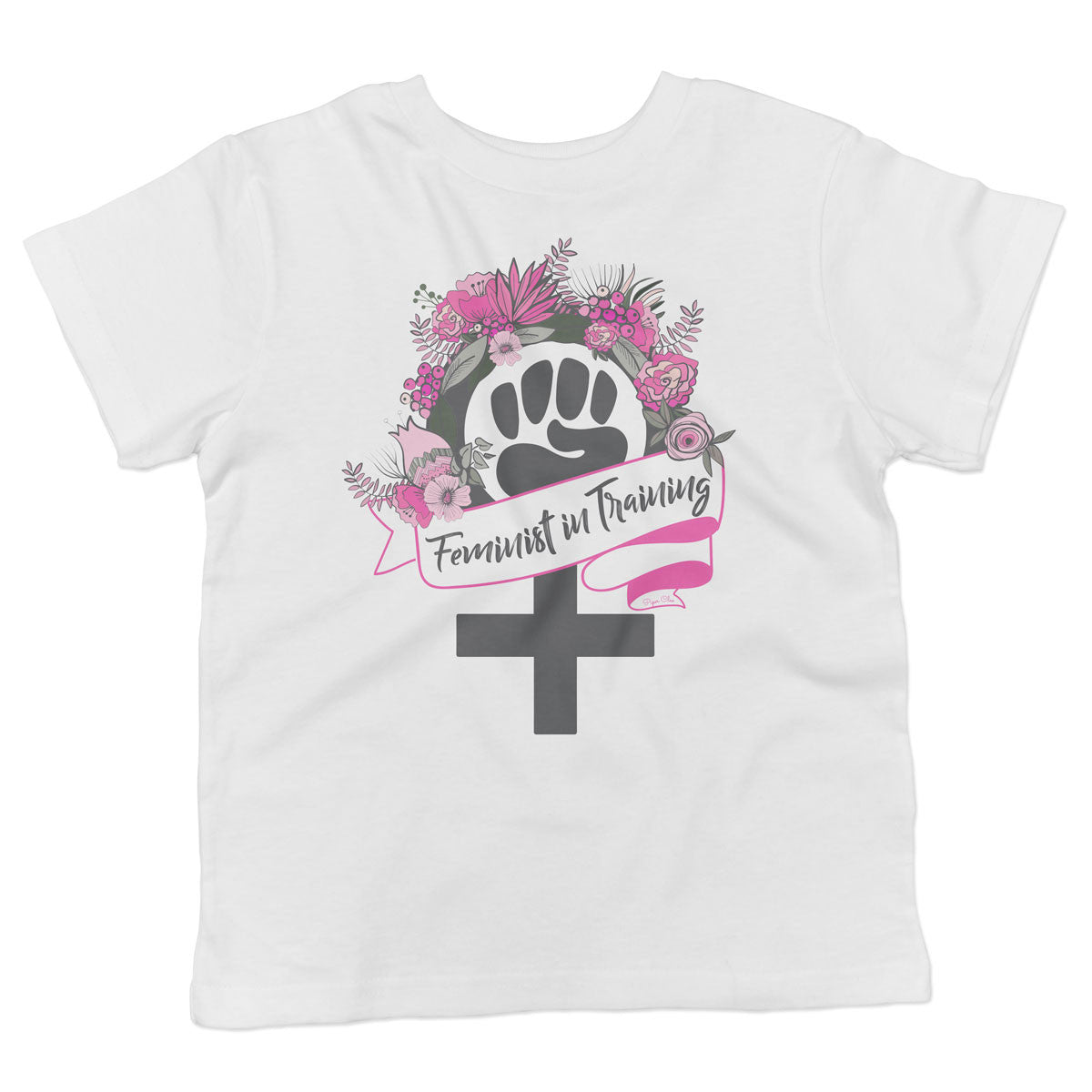 Feminist in Training - Pink - Toddler Softstyle T-Shirt - pipercleo.com