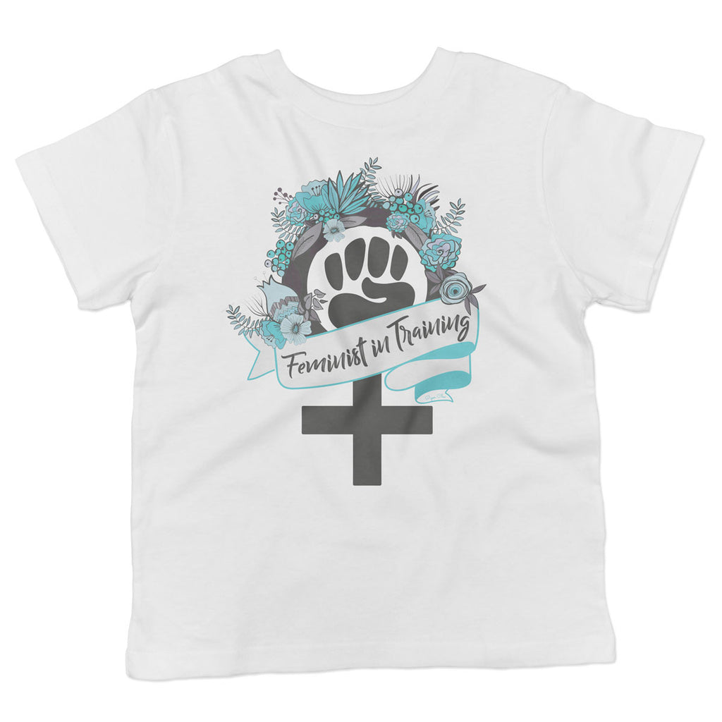 Feminist in Training - Teal - Toddler Softstyle T-Shirt - pipercleo.com