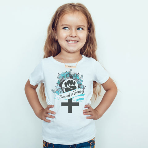 Feminist in Training - Teal - Toddler Softstyle T-Shirt