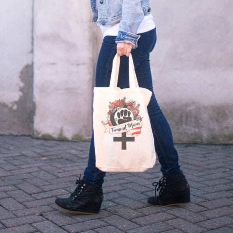 Feminist Mama Cotton Tote Bag