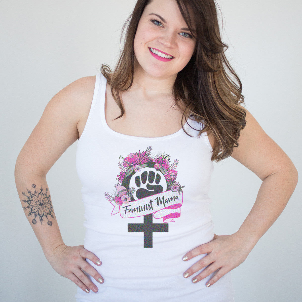 Feminist Mama Ladies' Tank - pipercleo.com