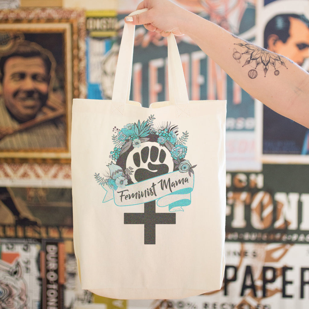 Feminist Mama Cotton Tote Bag - pipercleo.com