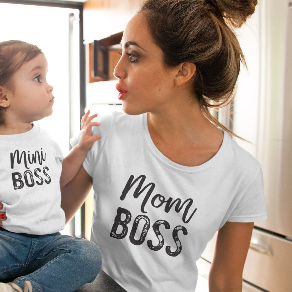Mom Boss Ladies' Boyfriend T-Shirt - pipercleo.com
