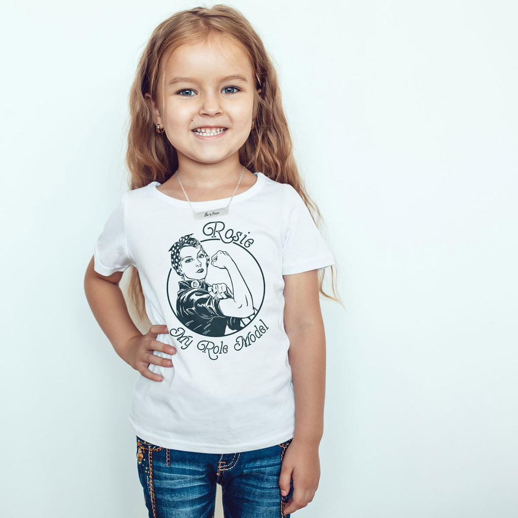 Rosie is my Role Model Toddler Softstyle T-Shirt - pipercleo.com
