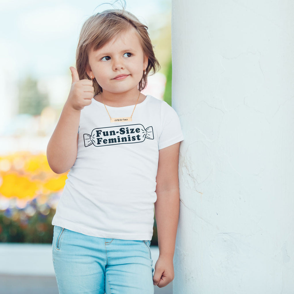 Fun-Size Feminist Toddler Softstyle T-Shirt - pipercleo.com