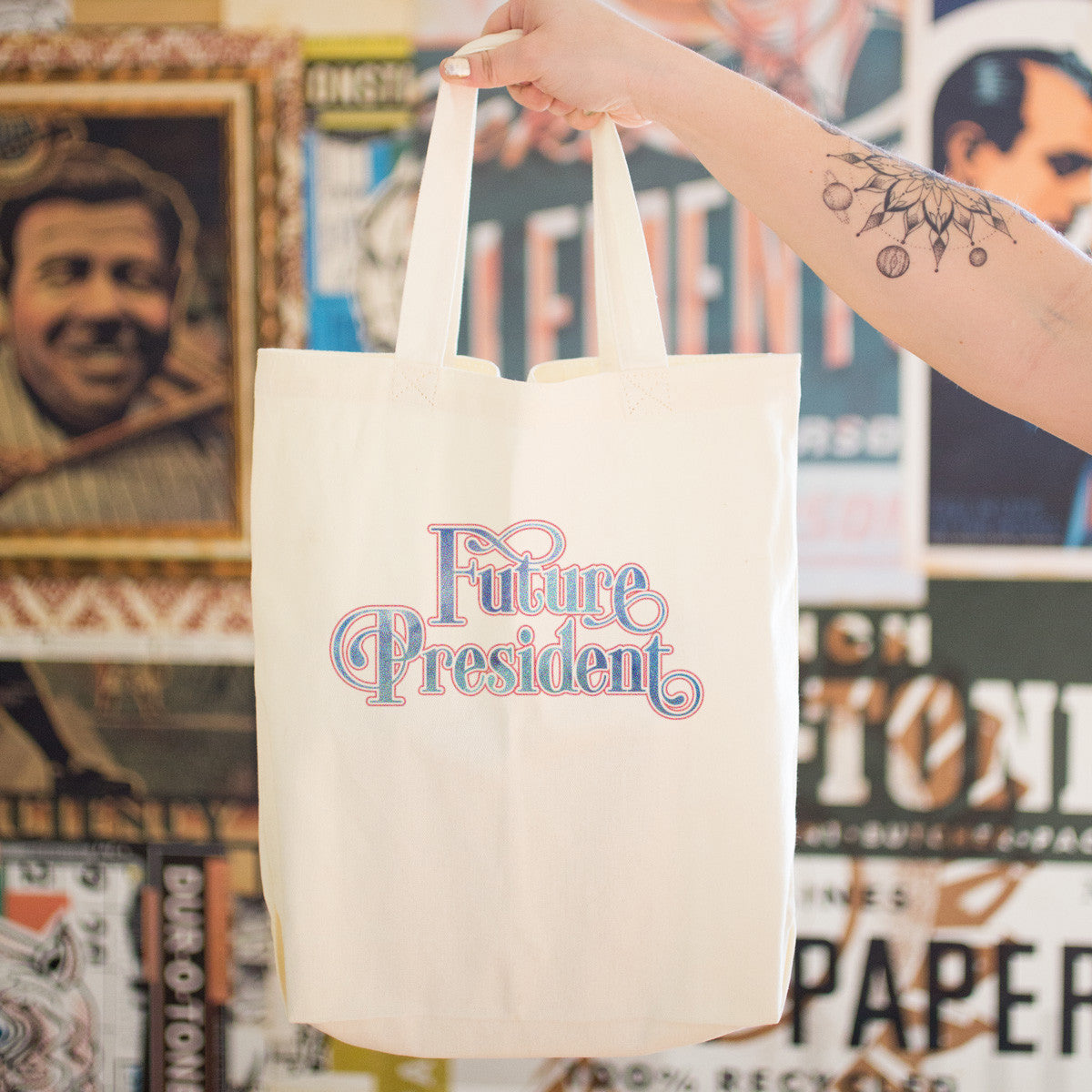 Future President Cotton Tote Bag - pipercleo.com