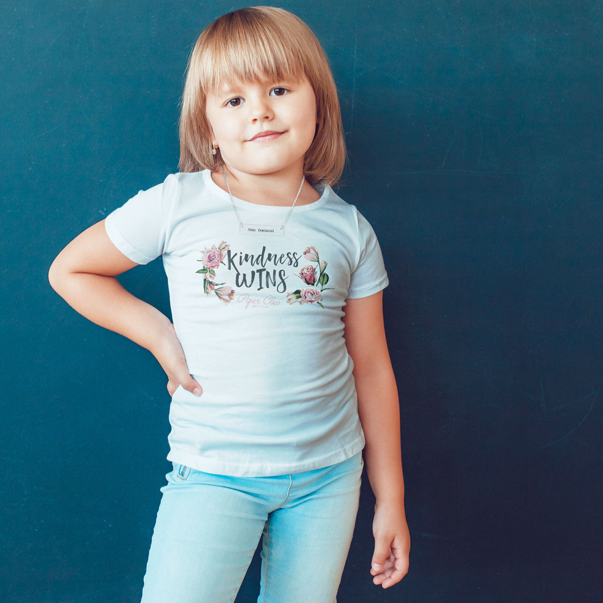 Kindness WINS Toddler Softstyle T-Shirt - pipercleo.com