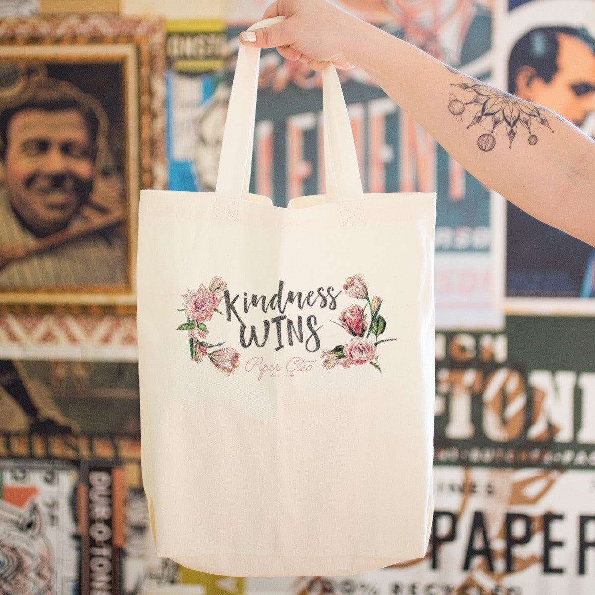 Kindness Wins Cotton Tote Bag - pipercleo.com