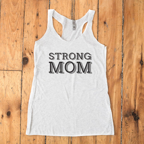 Strong Mom Racerback Tank