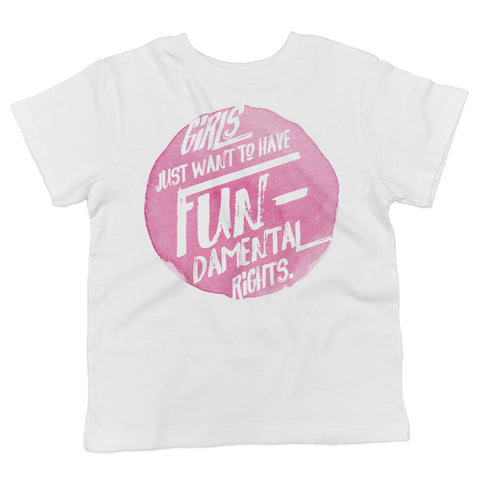 Girls Just Want to Have Fundamental Rights Toddler Softstyle T-Shirt