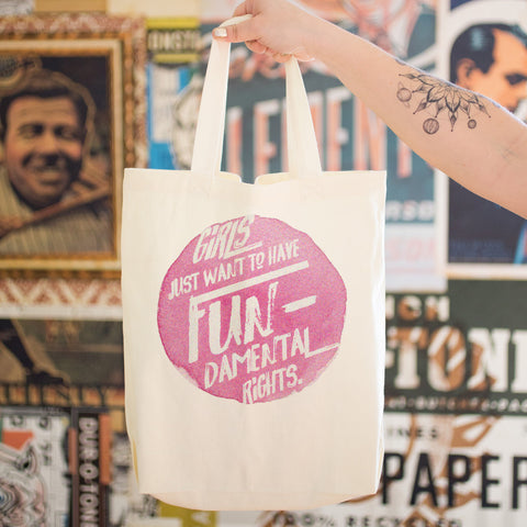 Girls Just Want to Have Fundamental Rights Cotton Tote Bag - pipercleo.com